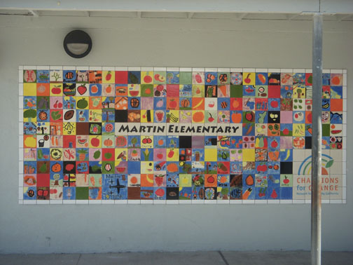 Martin elementary school tile mural for Elementary school mural