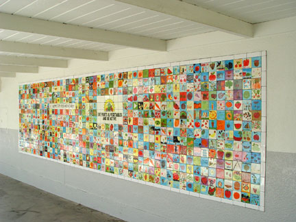 Repetto elementary tile mural for Elementary school mural